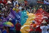 Fórum Social Mundial 2009.<br /> Milhares de manifestantes participam da passeata pela abertura<br /> do Fórum Social Mundial 2009 sob fortes chuvas.<br /> Foto Paulo Santos<br /> Belém, Pará, Brasil.<br /> 27/01/2009