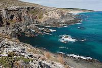 The rugged coast and turquoise ocean make this Kangaroo Island landscape stunning.