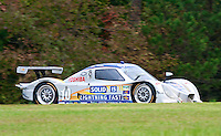 The #10 Chevrolet Dallara of Max Angelelli, Ricky Taylor and Wayne Taylor races past fall foliage during the Grand-Am Rolex Series test at Virginia International Raceway, Alton, VA , October 2010. (Photo by Brian Cleary/www.bcpix.com)