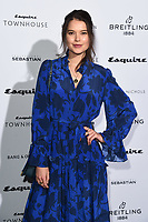 LONDON, UK. October 16, 2019: Sarah Macklin arriving for the Esquire Townhouse 2019 launch party, London.<br /> Picture: Steve Vas/Featureflash