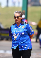 May 22, 2016; Topeka, KS, USA; NHRA funny car sponsor Terry Chandler during the Kansas Nationals at Heartland Park Topeka. Mandatory Credit: Mark J. Rebilas-USA TODAY Sports