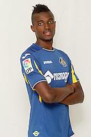 Getafe's new player Bernard Mensah during his official presentation. August 5, 2014. (ALTERPHOTOS/Acero)