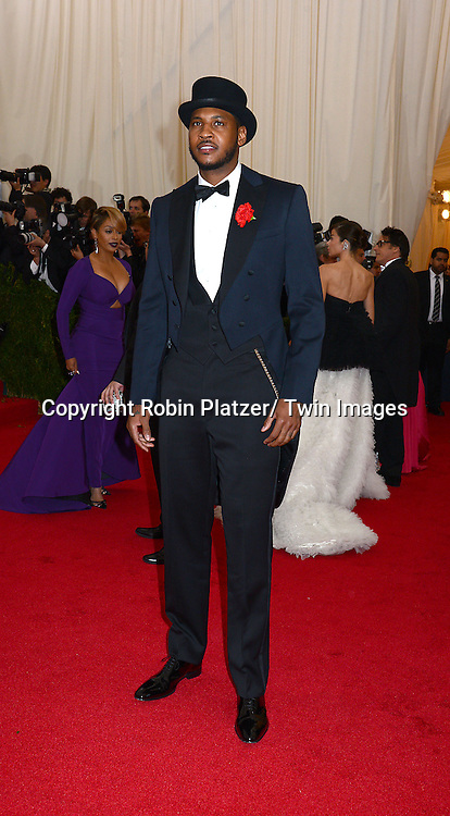 Carmelo Anthony attends the Costume Institute Benefit on May 5, 2014 at the Metropolitan Museum of Art in New York City, NY, USA. The gala celebrated the opening of Charles James: Beyond Fashion and the new Anna Wintour Costume Center.