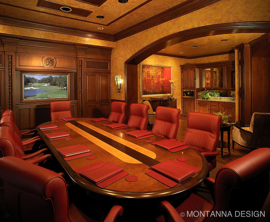 Power Red for a dramatic Board Room design.
