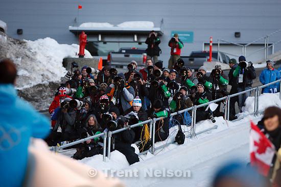 Trent Nelson  |  The Salt Lake Tribune.photographers, Men's Skeleton, at the XXI Olympic Winter Games in Whistler, Friday, February 19, 2010.