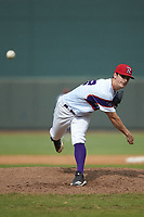 Winston-Salem Rayados relief pitcher Danny Dopico (22) delivers a pitch to the plate against the Potomac Nationals at BB&T Ballpark on August 12, 2018 in Winston-Salem, North Carolina. The Rayados defeated the Nationals 6-3. (Brian Westerholt/Four Seam Images)