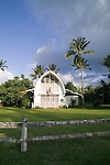 A charming church in Hanalei Village, Kauai, Hawaii