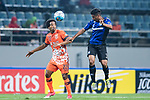 Jeju United Forward Magno Da Cruz (L) fights for the ball with Gamba Osaka Defender Fabio Da Silva (R) during the AFC Champions League 2017 Group H match Between Jeju United FC (KOR) vs Gamba Osaka (JPN) at the Jeju World Cup Stadium on 09 May 2017 in Jeju, South Korea. Photo by Marcio Rodrigo Machado / Power Sport Images