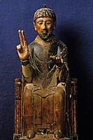 Europe/France/Auvergne/15/Cantal/Saint Flour/Musée de la Haute-Auvergne: Détail statue de Saint-Pierre de Bredons XIème siècle