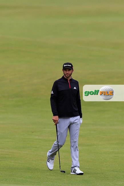 Dustin JOHNSON (USA) at the 18th green during Sunday's Round 3 of the 144th Open Championship, St Andrews Old Course, St Andrews, Fife, Scotland. 19/07/2015.<br /> Picture Eoin Clarke, www.golffile.ie