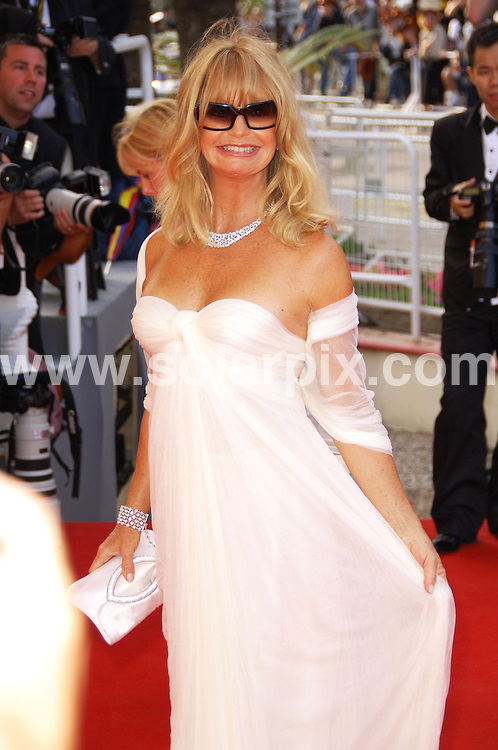 **ALL ROUND PICTURES FROM SOLARPIX.COM**.**WORLDWIDE SYNDICATION RIGHTS**.Indiana Jones world Premiere Cannes film festival Cannes in France.This pic:Goldie Horn.JOB REF:6441-MSR    DATE:18_05_08 .**MUST CREDIT SOLARPIX.COM OR DOUBLE FEE WILL BE CHARGED* *UNDER NO CIRCUMSTANCES IS THIS IMAGE TO BE REPRODUCED FOR ANY ONLINE EDITION WITHOUT PRIOR PERMISSION*