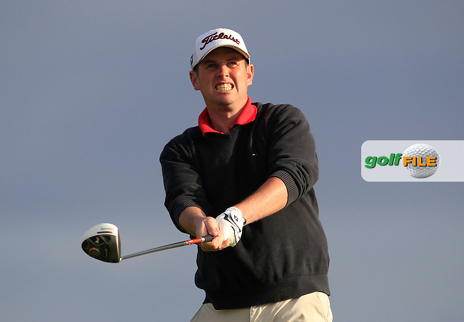 Eoghan O'Loughlin (Spanish Point) on the 2nd tee during Round 2 of the South of Ireland Amateur Open Championship at LaHinch Golf Club on Thursday 23rd July 2015.<br /> Picture:  Golffile   Thos Caffrey