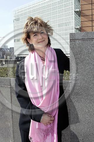 BRUSSELS - BELGIUM - 17 MARCH 2005-- Bente SLAATTEN, the Leader of the Norwegian Nurses .Association (Norsk Sykepleierforbund).-- PHOTO: JUHA ROININEN / EUP-IMAGES