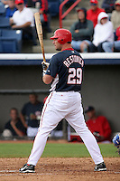 Washington Nationals Michael Restovich during a Grapefruit League Spring Training game at Spacecoast Stadium on March 19, 2007 in Melbourne, Florida.  (Mike Janes/Four Seam Images)