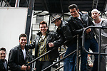 Ryan Patrick Binder & Ace Young & Keven Quillon, Jose Restrepo & Derek Keeling ( GREASE ) attending BROADWAY on BROADWAY 2008 in Times Square, New York City.<br />
