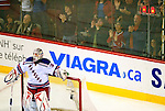 23 January 2010: New York Rangers' goaltender Henrik Lundqvist looks up at the scoreboard after giving up a second period goal to the Montreal Canadiens at the Bell Centre in Montreal, Quebec, Canada. The Canadiens shut out the Rangers 6-0. Mandatory Credit: Ed Wolfstein Photo