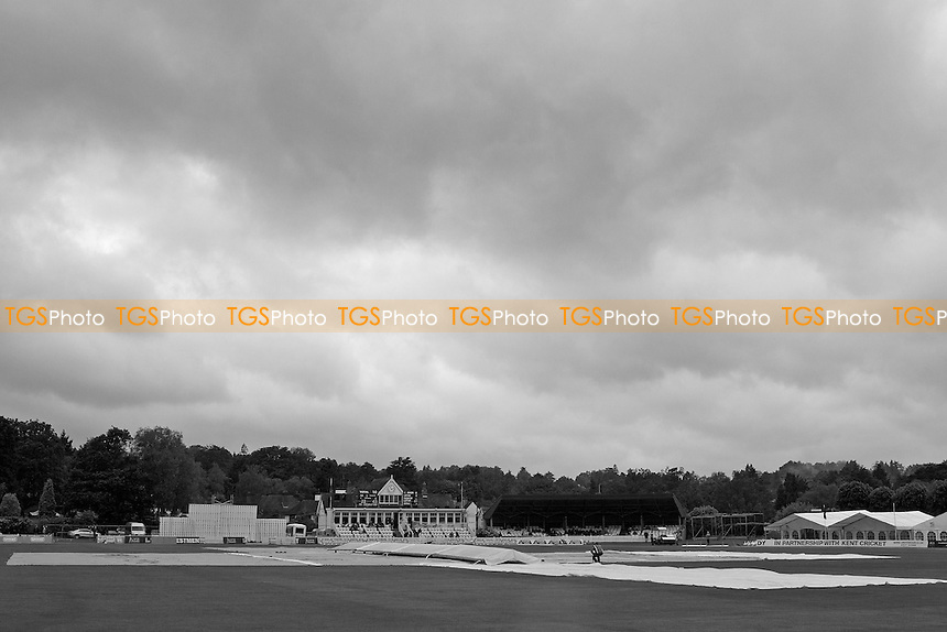 The view to the pavillion at the Nevill Ground - Kent CCC vs Hampshire CCC - LV County Championship Division Two Cricket at The Nevill Ground, Tunbridge Wells - 08/06/12 - MANDATORY CREDIT: Ray Lawrence/TGSPHOTO - Self billing applies where appropriate - 0845 094 6026 - contact@tgsphoto.co.uk - NO UNPAID USE.