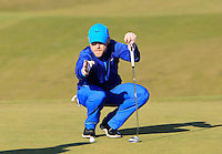 Ronan Keating (AM) on the 10th green during Round 2 of the 2015 Alfred Dunhill Links Championship at Kingsbarns in Scotland on 2/10/15.<br /> Picture: Thos Caffrey | Golffile