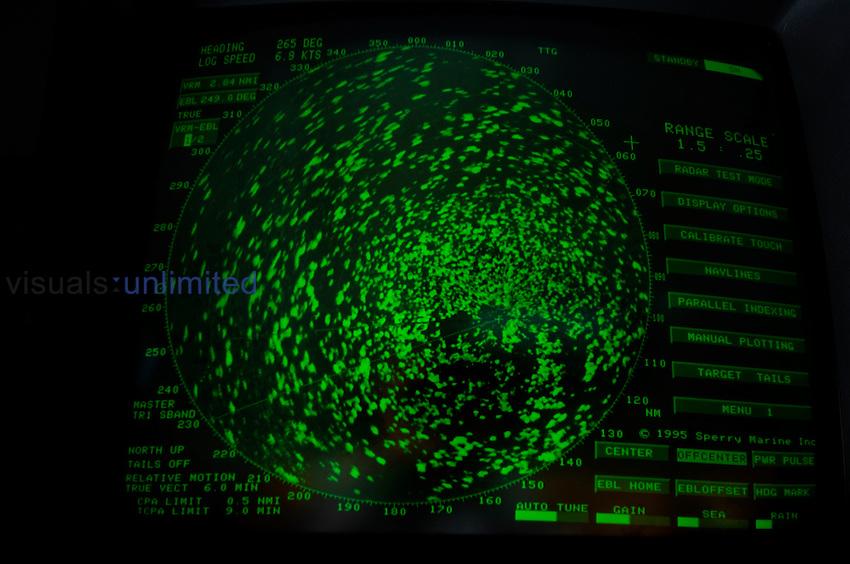 Radar on the bridge of the ship Polar Star