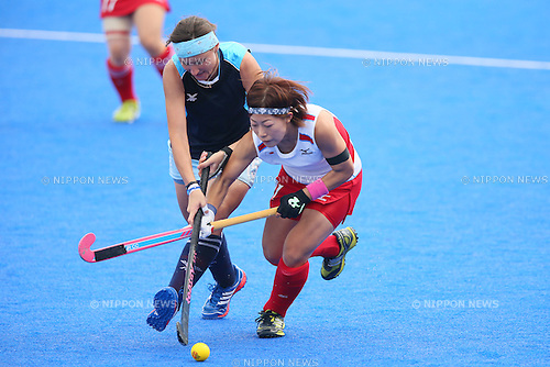 Akane Shibata (JPN), <br /> SEPTEMBER 26, 2014 - Hockey : <br /> Women's Preliminary <br /> between Kazakhstan Women's 0-8 Japan Women's <br /> at Seonhak Hockey Stadium <br /> during the 2014 Incheon Asian Games in Incheon, South Korea. <br /> (Photo by YUTAKA/AFLO SPORT)