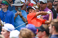 C.T. Pan (TAI) watches his tee shot on 3 during round 4 of the 2019 Charles Schwab Challenge, Colonial Country Club, Ft. Worth, Texas,  USA. 5/26/2019.<br /> Picture: Golffile | Ken Murray<br /> <br /> All photo usage must carry mandatory copyright credit (© Golffile | Ken Murray)