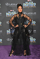 Tessa Thompson at the world premiere for &quot;Black Panther&quot; at the Dolby Theatre, Hollywood, USA 29 Jan. 2018<br /> Picture: Paul Smith/Featureflash/SilverHub 0208 004 5359 sales@silverhubmedia.com