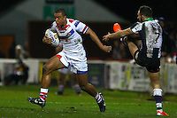 Picture by Alex Whitehead/SWpix.com - 20/02/2014 - Rugby League - First Utility Super League - Wakefield Trinity Wildcats v Bradford Bulls - Rapid Solicitors Stadium, Wakefield, England - Wakefield's Reece Lyne makes a break from Bradford's Luke Gale.