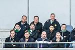 Stockholm 2014-04-14 Fotboll Superettan Hammarby IF - Degerfors IF :  <br /> Hammarbys sportchef Mats Jingblad (&ouml;verst i mitten) och  mentale coach Anders Friberg (&ouml;verst th) ser p&aring; matchen fr&aring;n l&auml;ktaren. Hammarbys Suleyman Sleyman (mittenraden tv&aring;a fr&aring;n h&ouml;ger) , ledamot Jens Gustafsson (mitten th) , vd Henrik Kindlund (nedre raden tv&aring;a fr&aring;n h&ouml;ger) och ordf&ouml;rande Richard von Yxkull (nedre raden th) ser p&aring; matchen<br /> (Foto: Kenta J&ouml;nsson) Nyckelord:  HIF Bajen Degerfors