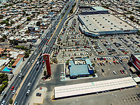 Costco on Colosio Boulevard. Building. City. Architecture. Increase. Modernity. Real estate development cars, parking. Panoramic view. Hermosillo, Sonora<br />