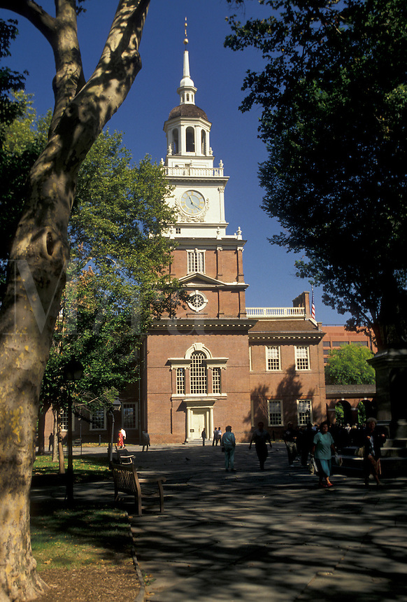 AJ3054, Independence Hall, Philadelphia, Pennsylvania, Independence Hall at Independence National Historical Park in Philadelphia in the state of Pennsylvania.