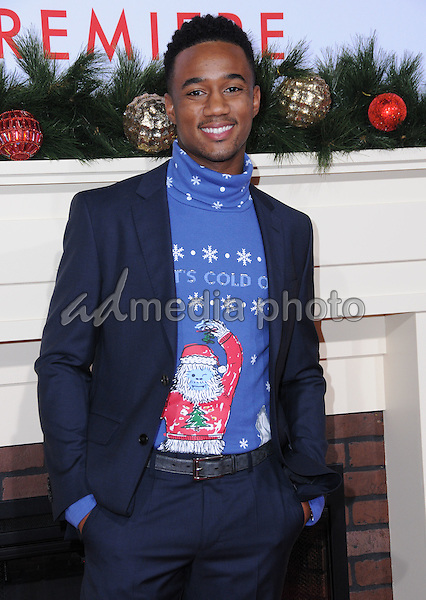 "03 November 2016 - Westwood, California. Jessie Usher. Premiere Of Universal's ""Almost Christmas"" held at Regency Village Theatre. Photo Credit: Birdie Thompson/AdMedia"