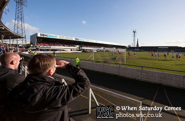 Hereford United 1 Swindon Town 2, 18/02/2012. Edgar Street, League Two. Photo by Paul Thompson.