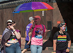 A photograph taken during the Pride Parade in Reno, Nevada on Saturday, July 27, 2019.