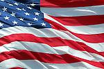 Waving American Flag.