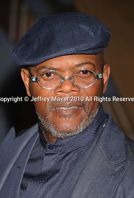 """HOLLYWOOD, CA. - April 19: Samuel L. Jackson  arrives at the Los Angeles Premiere of """"Mother And Child"""" at the Egyptian Theatre on April 19, 2010 in Hollywood, California."""