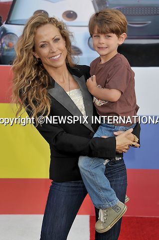 """SHERYL CROW AND SON WYATT.attends the World Premiere of Disney Pixar's """"Cars 2"""" at the El Capitan Theatre on June 18, 2011 in Hollywood, California_18/06/201.Mandatory Photo Credit: ©Crosby/Newspix International. .**ALL FEES PAYABLE TO: """"NEWSPIX INTERNATIONAL""""**..PHOTO CREDIT MANDATORY!!: NEWSPIX INTERNATIONAL(Failure to credit will incur a surcharge of 100% of reproduction fees).IMMEDIATE CONFIRMATION OF USAGE REQUIRED:.Newspix International, 31 Chinnery Hill, Bishop's Stortford, ENGLAND CM23 3PS.Tel:+441279 324672  ; Fax: +441279656877.Mobile:  0777568 1153.e-mail: info@newspixinternational.co.uk"""
