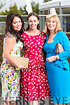 Grainne Healy and Roisin Smullen (Tralee) with Bridie O'Rourke (Listowel), pictured at the Rose of Tralee Fashion Show on Sunday night last held in the Dome, Tralee.