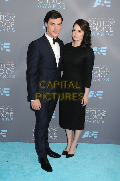 17 January 2016 - Santa Monica, California - Finn Wittrock, Sarah Roberts. 21st Annual Critics' Choice Awards - Arrivals held at Barker Hangar. <br /> CAP/ADM/BP<br /> &copy;BP/ADM/Capital Pictures