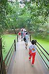 Walking Bridge At Temple Site