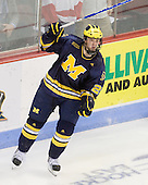 David Wohlberg (Michigan - 25) - The Boston University Terriers defeated the University of Michigan Wolverines 3-2 on Saturday, October 24, 2009, at Agganis Arena in Boston, Massachusetts.
