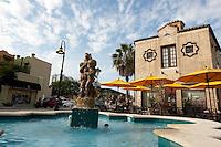 Water fountain at Burns Court Herald Square, Sarasota, Florida, USA. Photo by Debi Pittman Wilkey