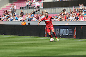 02.08.2015. Cologne, Germany. Pre Season Tournament. Colonia Cup. FC Cologne versus Valencia CF. Jonas Hector marauding down the wing.