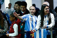Fans wait the arrival of Argentina soccer player Lionel Messi to attend the friendly match between Argentina and Ecuador in New Jersey. 03.30.2015. Eduardo MunozAlvarez / VIEWpress.
