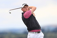 Dylan Brophy (Castleknock) on the 8th tee during the 1/4 Finals of the AIG Irish Close Championship at the European Club, Brittas Bay, Wicklow, Ireland on Monday 6th August 2018.<br /> Picture: Thos Caffrey / Golffile<br /> <br /> All photo usage must carry mandatory copyright credit (&copy; Golffile | Thos Caffrey)