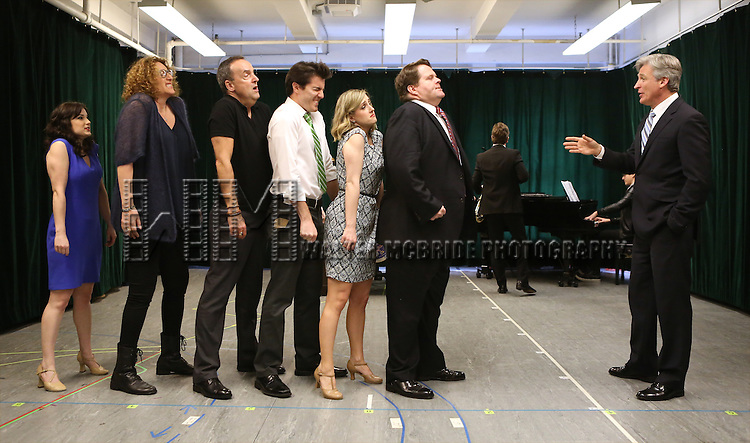 Tom Galantich (R) with the cast during the 'Clinton The Musical' - Sneak Peek at Ripley Grier Studios on March 4, 2015 in New York City.