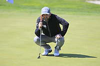 Andy Sullivan (ENG) on the 1st green during Round 3 of the Open de Espana 2018 at Centro Nacional de Golf on Saturday 14th April 2018.<br /> Picture:  Thos Caffrey / www.golffile.ie<br /> <br /> All photo usage must carry mandatory copyright credit (&copy; Golffile | Thos Caffrey)