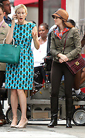 August 10, 2012 Kelly Rutherford, Leighton Meester shooting on location for  Gossip Girl in New York City.Credit:&copy; RW/MediaPunch Inc. /NortePhoto.com*<br />