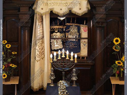 Jewish Synagogue interior. Toronto Canada.