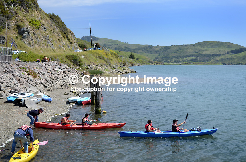 Canoeists, Russian River, Jenner, Sonoma County, California, USA. 201304292047<br /> <br /> Copyright Image from Victor Patterson, 54 Dorchester Park, Belfast, UK, BT9 6RJ<br /> <br /> Tel: +44 28 9066 1296<br /> Mob: +44 7802 353836<br /> Voicemail +44 20 8816 7153<br /> Skype: victorpattersonbelfast<br /> Email: victorpatterson@me.com<br /> Email: victorpatterson@ireland.com (back-up)<br /> <br /> IMPORTANT: If you wish to use this image or any other of my images please go to www.victorpatterson.com and click on the Terms &amp; Conditions. Then contact me by email or phone with the reference number(s) of the image(s) concerned.