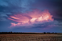Pink sheared anvil cloud at sunset in Shattuck, OK, June 3, 2012